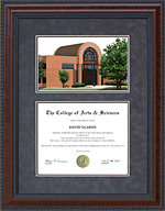 Tarleton State University Diploma Frame with Campus Lithograph
