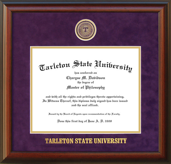 Tarleton State University Frame With Custom Medallion