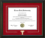 Texas Tech Diploma Frame with Bevel Mat Accent