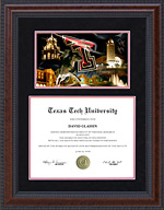 Texas Tech Diploma Frame with Suede Mat and Campus Photo