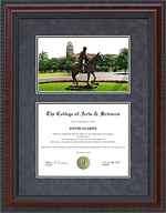 Texas Tech Diploma Frame with Campus Lithograph
