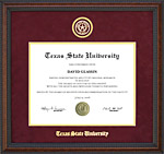 Texas State Diploma Frame with Embossed School Seal