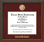 Texas State Logo Diploma Frame with Custom Medallion