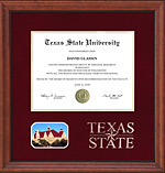 Texas State Diploma Frame with Embossed Logo