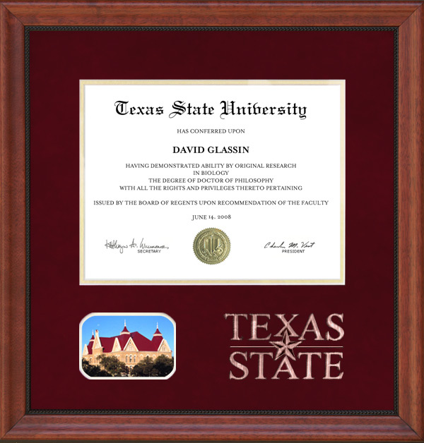 Texas State University Diploma Frames & Graduation Products: Wordyisms