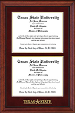 Texas State Double Diploma Frame