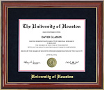 UH Diploma Frame with Gold Embossed Mat