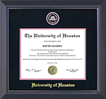 University of Houston Diploma Frame with Suede Mat
