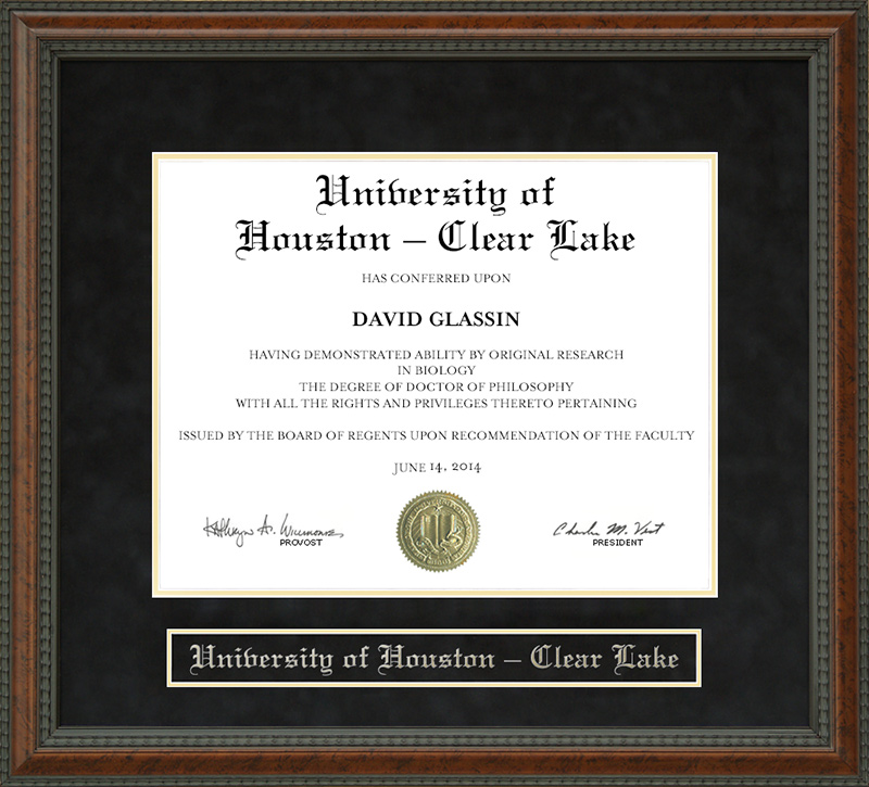 University of Houston - Clear Lake (UH-Clear Lake) Diploma Frame ...