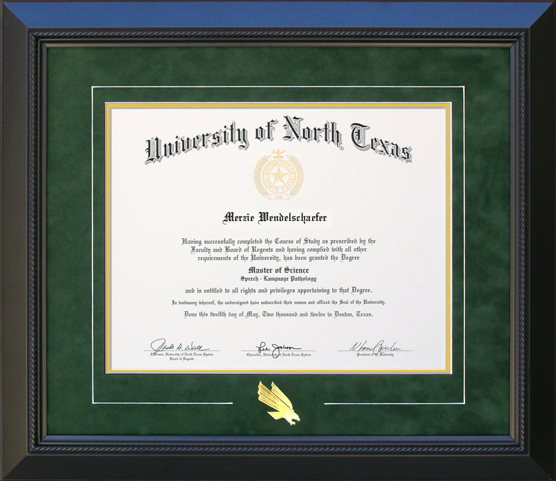 Unt Logo Diploma Frame Wordyisms