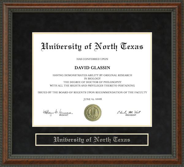 University Of North Texas Unt Diploma Frame Wordyisms