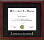 University of St. Thomas (UST) Mahogany Diploma Frame