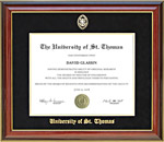 University of St. Thomas Diploma Frame with Gold Embossing