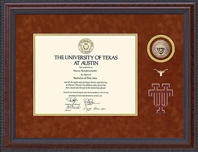 UT Austin 40 Acres Series Diploma Frame