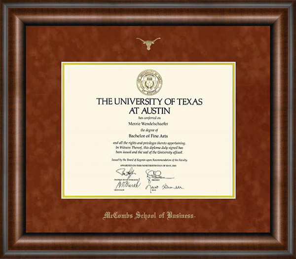 UT Austin Classic Diploma Frame: Wordyisms