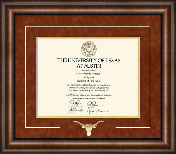 Longhorn Diploma Frame Wordyisms