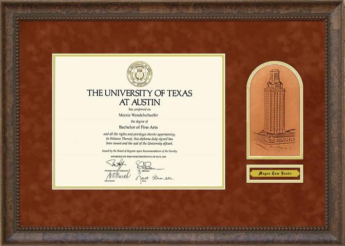 Ut Tower Memories Diploma Frame Wordyisms