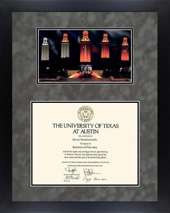 University Of Texas Campus Pride Diploma Frame Wordyisms