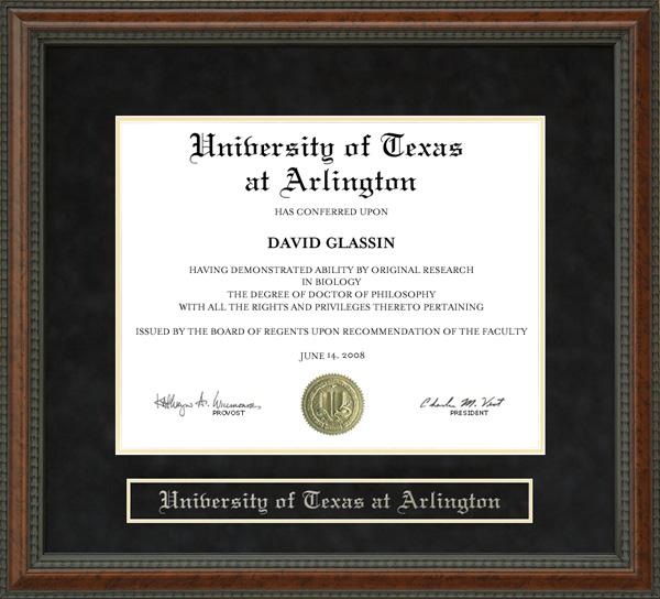 University Of Texas At Arlington Uta Diploma Frame
