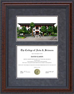 Diploma Frame with Licensed UT El Paso (UTEP) Campus Lithograph