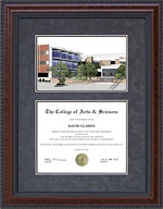 UT Health Science Center, San Antonio (UTHSC) Frame with Lithograph