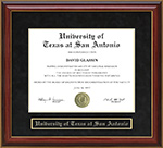 University of Texas at San Antonio (UTSA) Mahogany Diploma Frame