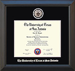 UTSA Diploma Frame with Custom Minted Medallion