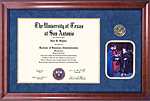 UTSA Diploma Frame with Graduation Photo