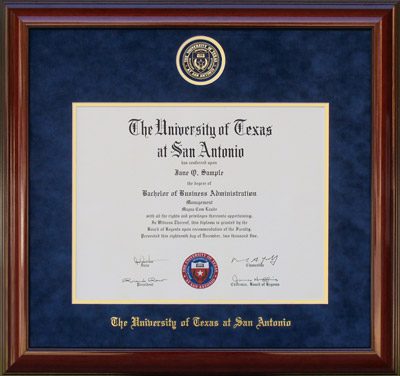 UTSA Frame with Suede Mat and Embossed School Seal