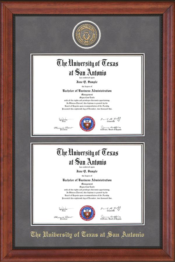 utsa double diploma frame