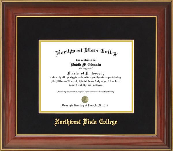 Northwest Vista College Diploma Frame: Wordyisms