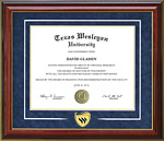 Texas Wesleyan University Classic with a Twist Diploma Frame