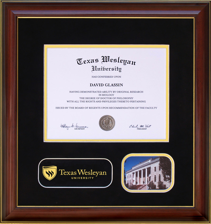 texas wesleyan designer photo diploma frame  wordyisms