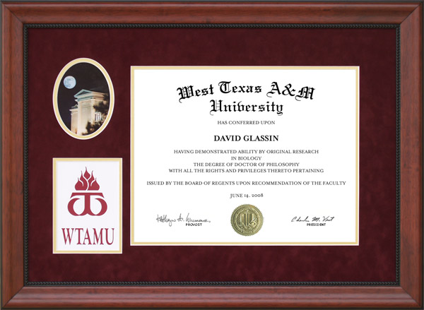 West Texas A Amp M Diploma Frame With Campus Photo Wordyisms