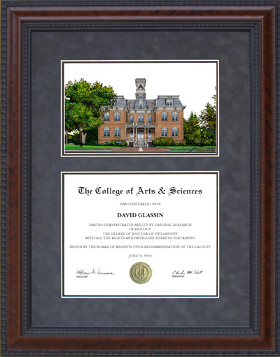 Diploma Frame With University Of Nevada Reno Unr Campus