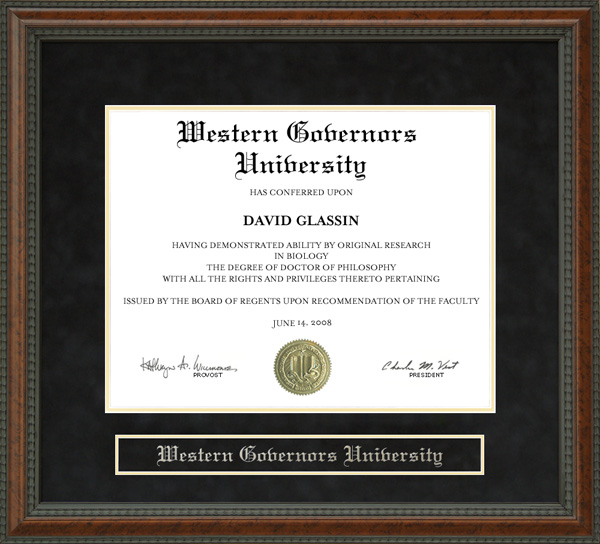 Western Governors University Wgu Diploma Frame Wordyisms