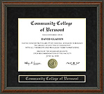 Community College of Vermont (CCV) Diploma Frame