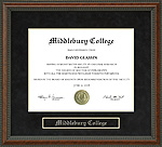 Middlebury College Diploma Frame