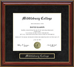 Middlebury College Mahogany Diploma Frame