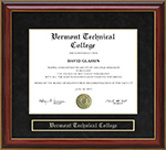 Vermont Technical College (VTC) Mahogany Diploma Frame