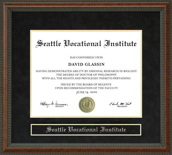 Seattle Vocational Institute (SVI) Diploma Frame: Wordyisms