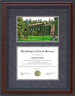 Diploma Frame with Western Washington University (WWU) Lithograph