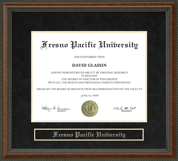 Fresno Pacific University Fpu Diploma Frame By Wordyisms