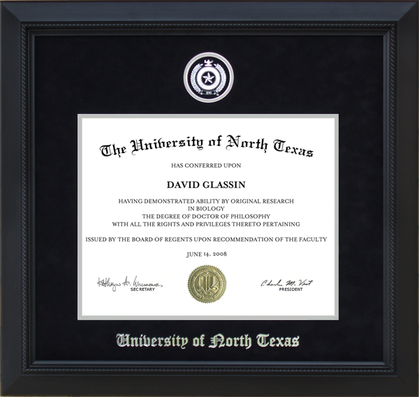 University Of North Texas Unt Diploma Frame With
