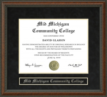 Mid Michigan Community College Mmcc Mi Diploma Frames And Graduation Gifts By Wordyisms