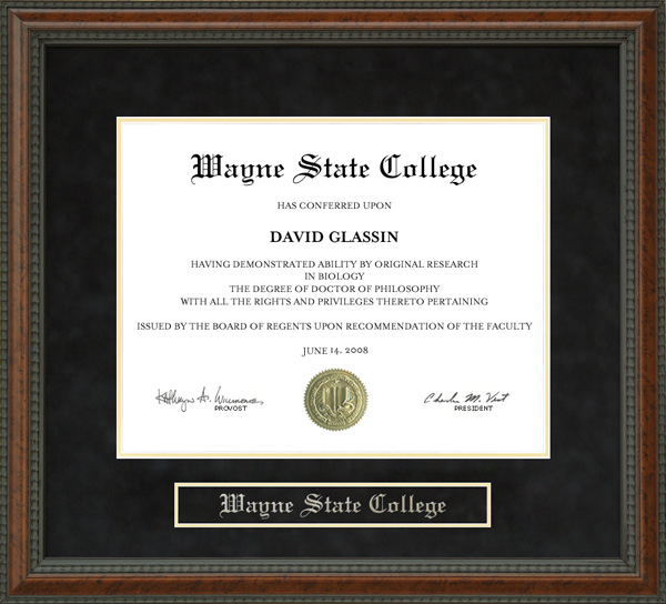 Wayne State College Wsc Diploma Frame By Wordyisms