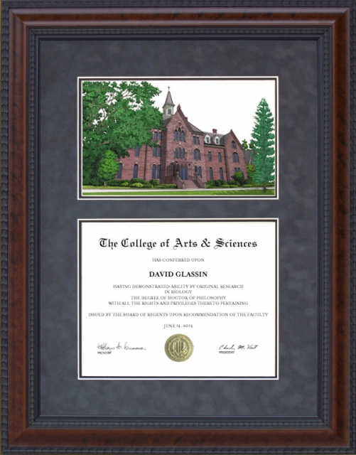 Diploma Frame With Seton Hall University Shu Campus Lithograph By Wordyisms