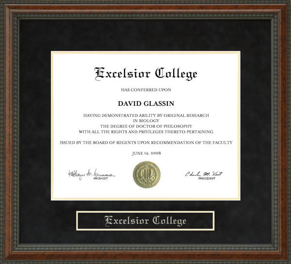 Excelsior College Nursing >> Excelsior College Diploma Frame