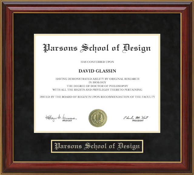Swell Parsons School Of Design Mahogany Diploma Frame By Wordyisms Interior Design Ideas Clesiryabchikinfo