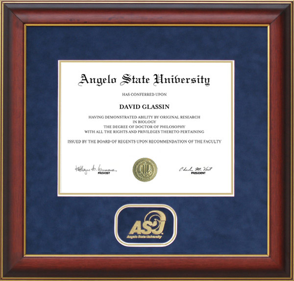 Campus Images Angelo State University Gold Embossed Diploma Frame